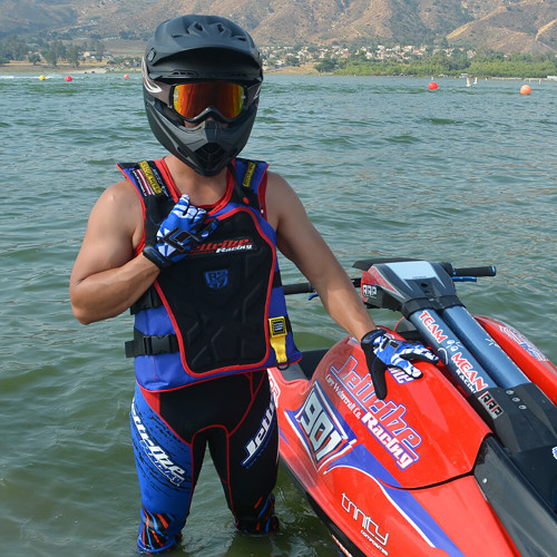 Shattered GP-30 Gloves - Blue PWC Jetski Ride & Race Gear