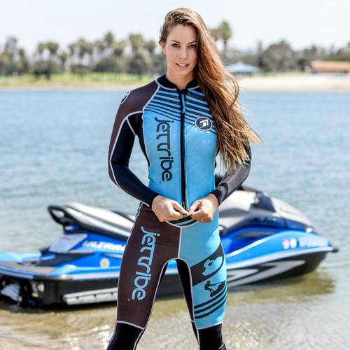 Newport Ladies Wetsuit - Teal PWC Jet Ski Ride & Race