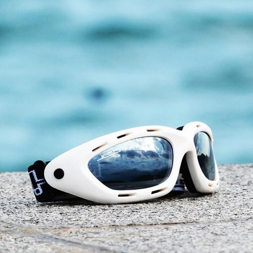 Classic White Frame/Smoke Lens Goggles PWC Jetski Ride & Race