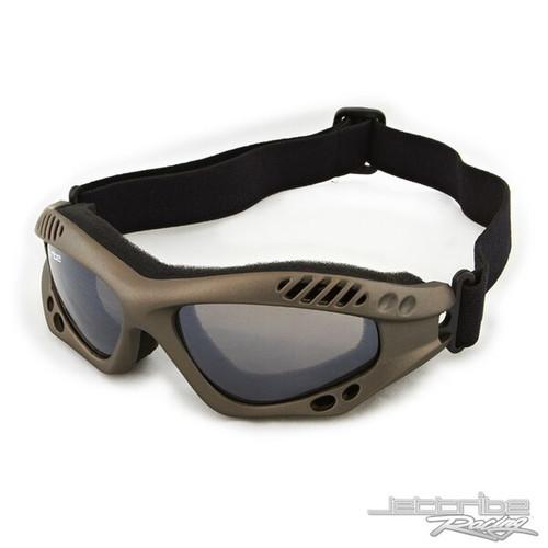 Expert Goggles Gun Metal Frame/Smoke Lens with Case PWC Jet Ski