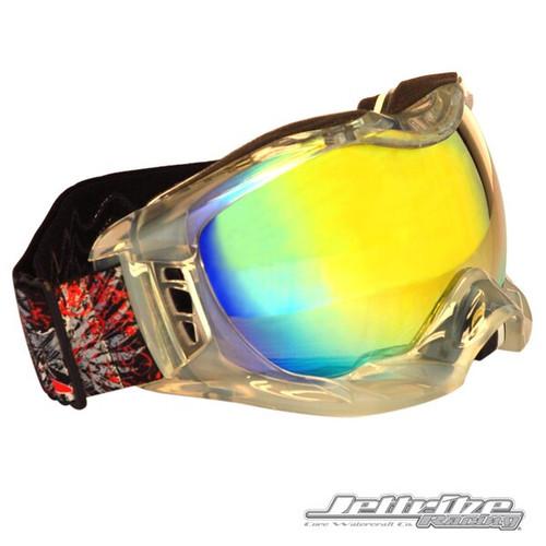 Helmet Clear Frame Goggles/Revo Lens including Case PWC Jetski Ride & Race