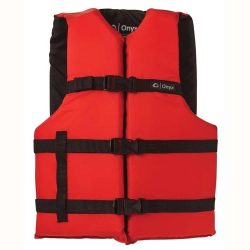 Onyx General Purpose Life Vest Adult Red - 103000-100-004-12