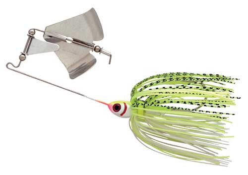 Booyah Buzz Bait 1/2 White Shad-Chartreuse