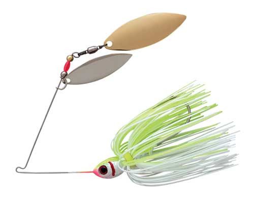 Booyah Blade 3/8 Double Willow White/Chartreuse