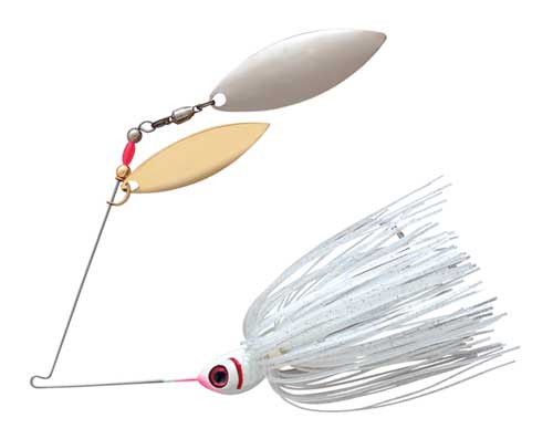 Booyah Blade 3/8 Double Willow Satin Silver Glimmer