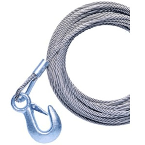 "Powerwinch 40' X 7/32"""" Cable Galvanized With Hook"