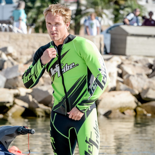 Sharpened Green Wetsuit | PWC Jet Ski Ride & Race