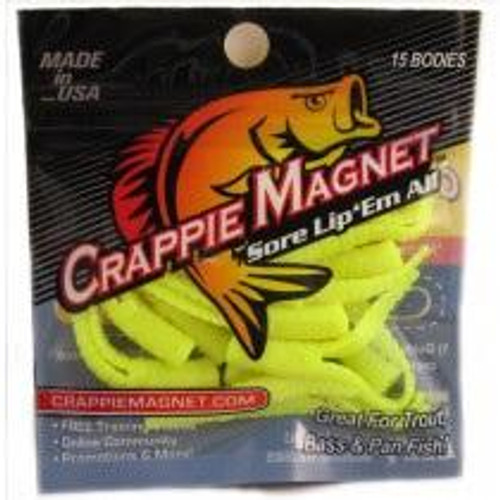 """Leland Crappie Magnet 1.5"""" 15ct Opaque Chartreuse"""