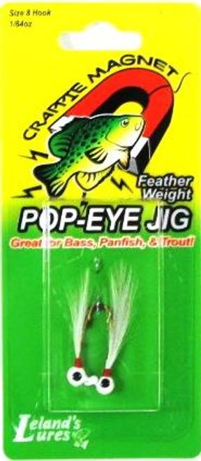 Leland Pop Eye Jig 1/64 2ct White/White