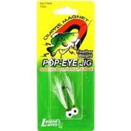 Leland Pop Eye Jig 1/32 2ct White/White