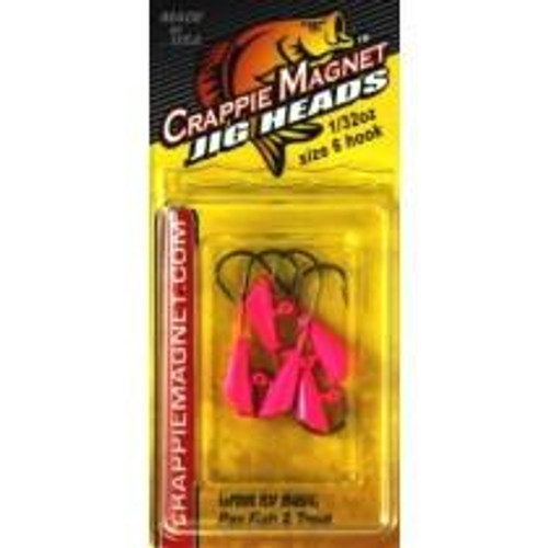 Leland Crappie Magnet Replacement Heads 5ct 1/32oz Pink