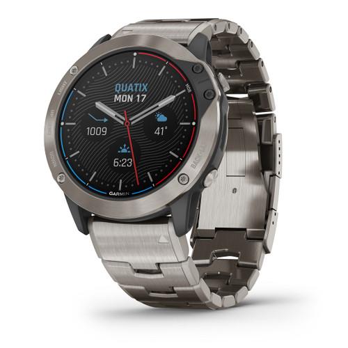 Garmin Quatix 6x Solar Marine Gps Smartwatch Titanium With Titanium Band