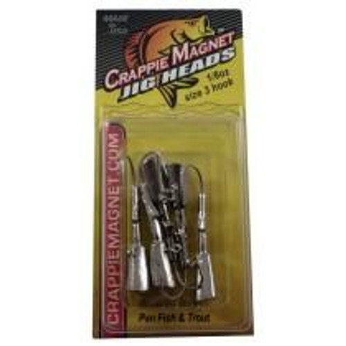 Leland Crappie Magnet Replacement Heads 5ct 1/8oz Nickle