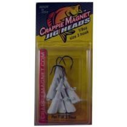 Leland Crappie Magnet Replacement Heads 5ct 1/8oz White