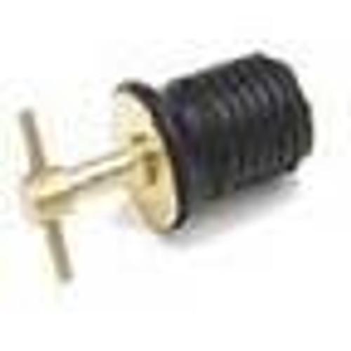 """Sea Sense Drain Plug 1"""" Twist Brass"""