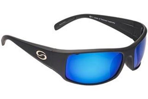 Strike King Sunglass S11 Okeechobee Matte Black/Blue Mirror