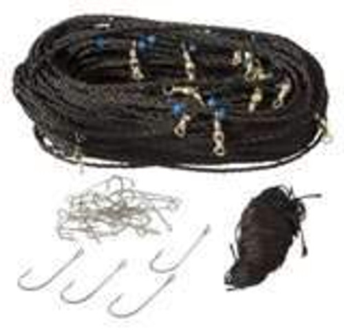 H&H Black Floating Trot Line 25 Hooks w/Swivels