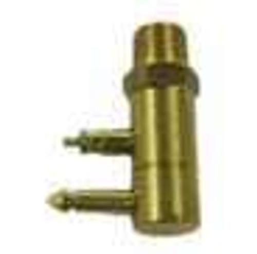 """Sea Sense Fuel Connector Male OMC 1/4"""" Brass NPT"""