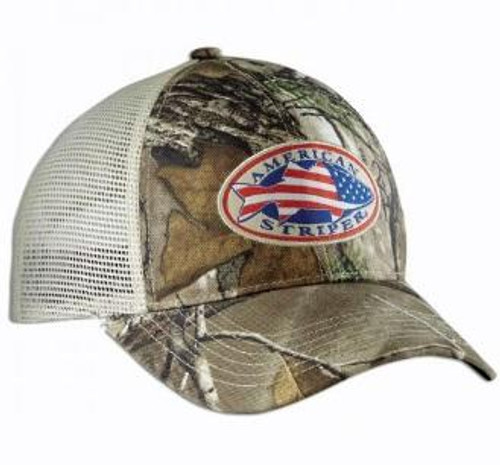 Flying Fisherman Trucker Hat American Striper Camo