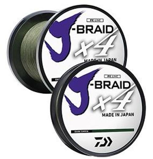 Daiwa J Braid Line x4 150yd 15lb Green