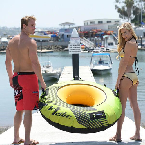 Donut Towable | 1 Person | Hyper Green | Inflatable Tube PWC Jetski