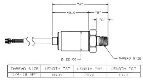 Maretron 0-3 Psi Transducer
