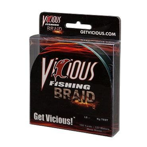Vicious Braid Moss Green 150yd 40lb