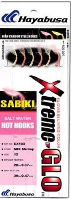 Hayabusa Sabiki Rig Mix Shrimp Glow 6-Hook Size 4/6