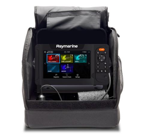 Raymarine Element Ice Fishing Bag, Battery, Charger, Mount Transducer And Float