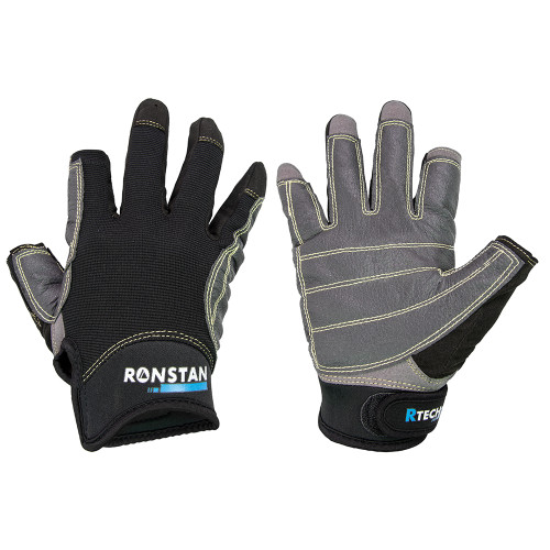 Ronstan Sticky Race Glove - 3-Finger - Black - XXS