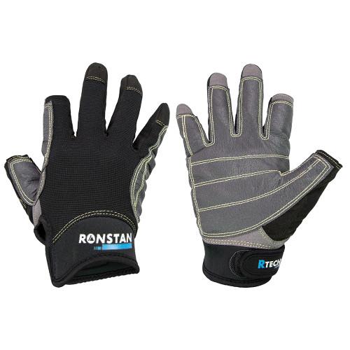 Ronstan Sticky Race Glove - 3-Finger - Black - XS
