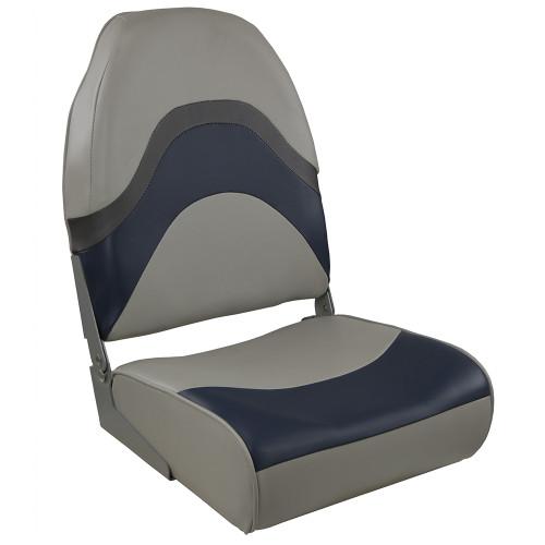 Springfield Premium Wave Folding Seat - Grey/Blue w/Meteor Stripe