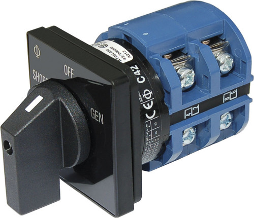 Blue Sea Rotary Switch 120vac 65 Amp Off + 2 Position