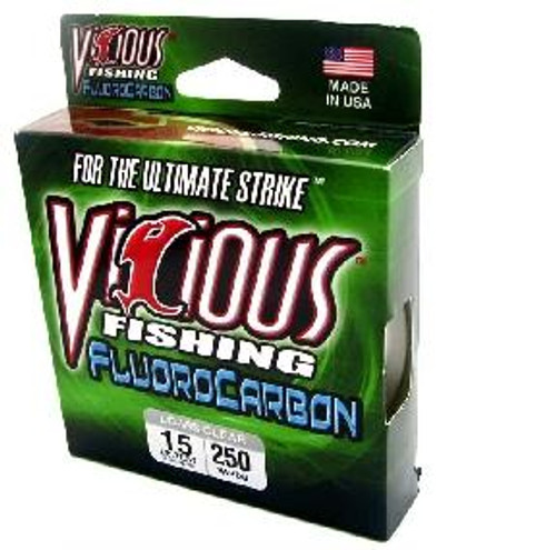 Vicious Fluorocarbon Clear Line 200yd 15lb