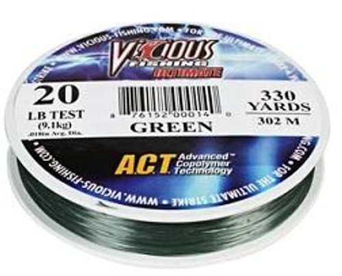 Vicious Ultimate LoVis Green Mono 330yd 17lb