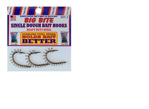 Magic Bait Snelled Spring Dough Bait Hook 4ct