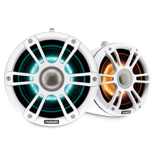 """Fusion Sg-flt882spw 8.8"""""""" Tower Speaker White With Crgbw Lighting"""