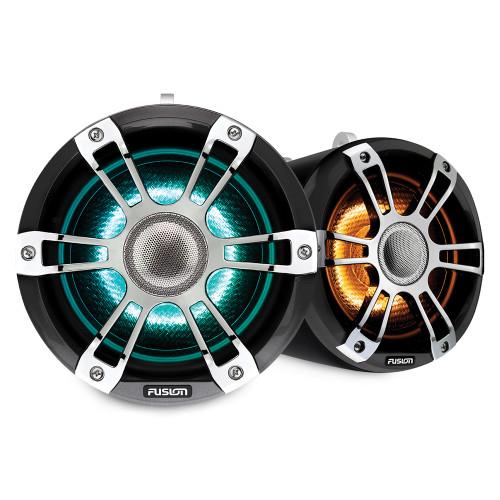 "Fusion Sg-flt882spc 8.8"""" Tower Speaker Chrome With Crgbw Lighting"