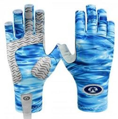 Flying Fisherman SunBandit Pro Series Gloves Blue Water L/XL