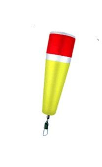 """Comal Weighted Poppin Float w/Swivel 4"""" Red/Yellow 12ct"""