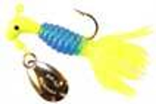 Blakemore Crappie Thunder 1/16 2ct Chartreuse/Blue/Chartreuse