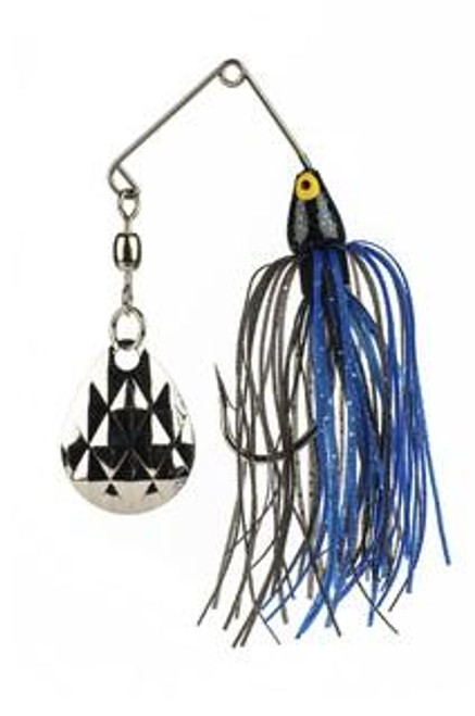 Strike King Mini King Spinnerbait  1/8 oz. Black/Blue