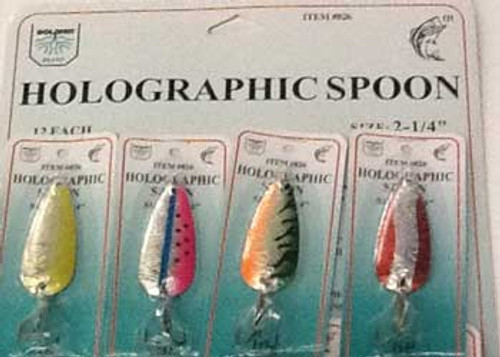 FJ Neil Holographic Spoons Assorted 1/4oz 12/cd