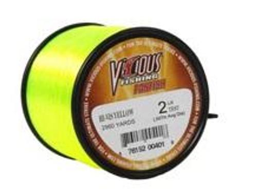 Vicious Panfish Line 1/4lb Spool Yellow 2lb