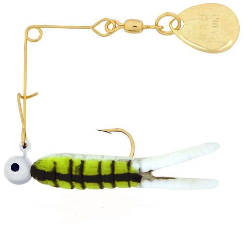 H&H Cajun Grub Spin 1/8 Gold-Bullfrog