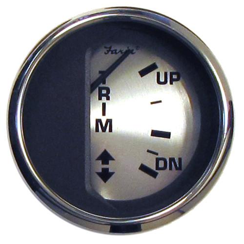 "Faria Spun Silver 2"" Trim Gauge f\/Mercury\/Mariner\/Mercruiser\/Volvo DP  Yamaha (01  Newer)"