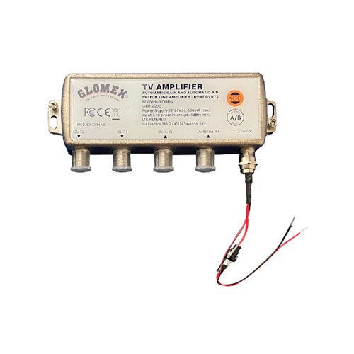 Glomex Automatic Gain Control Amplifier w\/Automatic A\/B Switch - 12\/24VDC - 2 Outputs