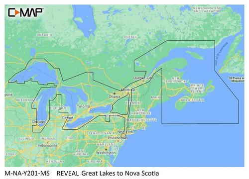 C-map Reveal Coastal Great Lakes To Nova Scotia