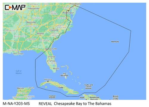 C-map Reveal Coastal Chesapeake Bay To The Bahamas