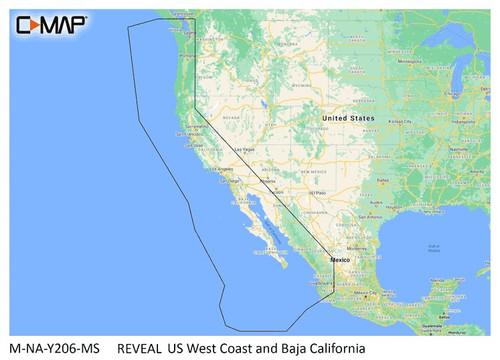 C-map Reveal Coastal Us West Coast And Baja